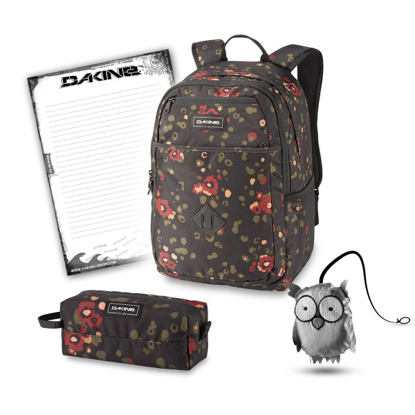 Dakine Essentials Pack 26L + Accessory Case + Emma + Block Schulset Begonia