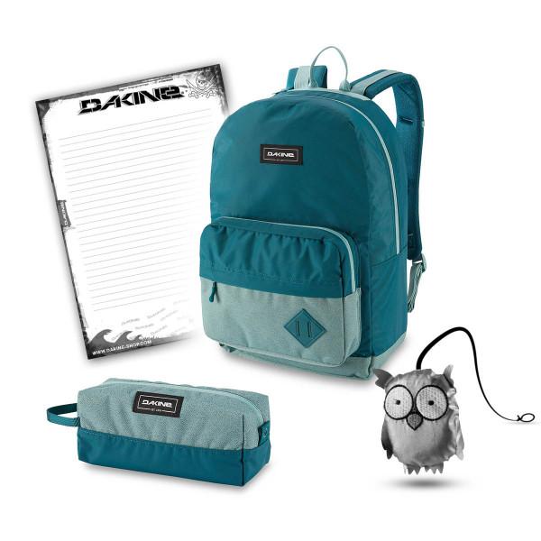 Dakine 365 Pack 30L + Accessory Case + Emma + Block Schulset Digital Teal