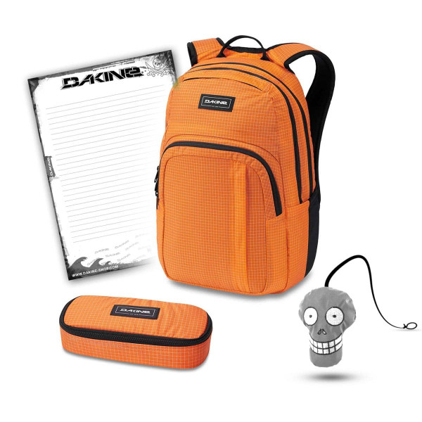 Dakine Campus M 25L + School Case + Harry + Block Schulset Orange