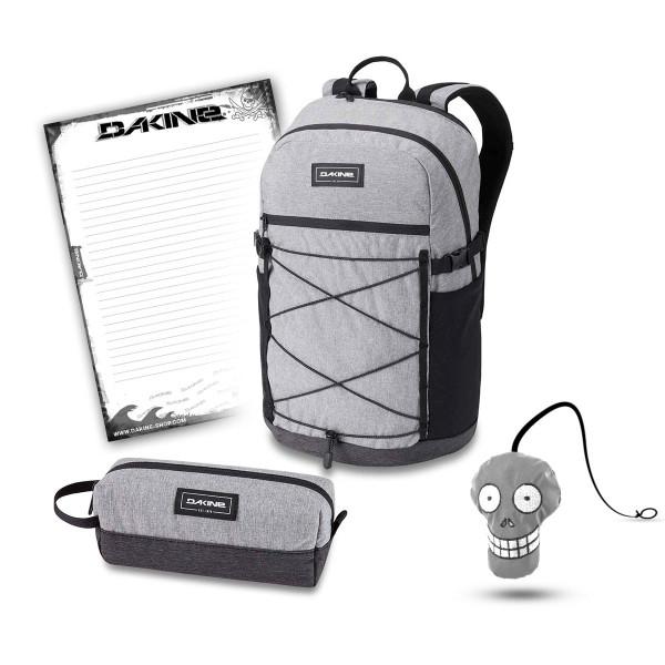 Dakine WNDR Pack 25L + Accessory Case + Harry + Block Schulset Greyscale
