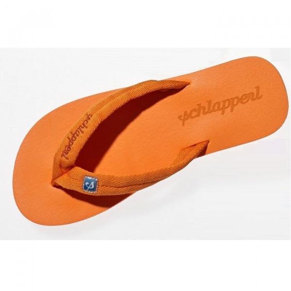 Schlapperl Zehensandalen mit komfortablem Stoffriemen Orange