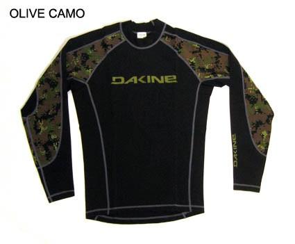 Dakine Performance L/S Lycra Olive Camo Größe S