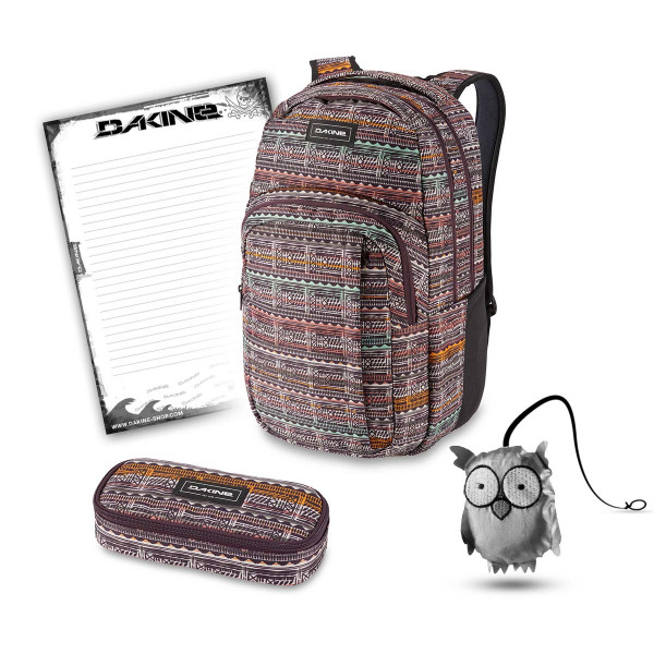 Dakine Campus L 33L + School Case + Emma + Block Schulset Multi Quest