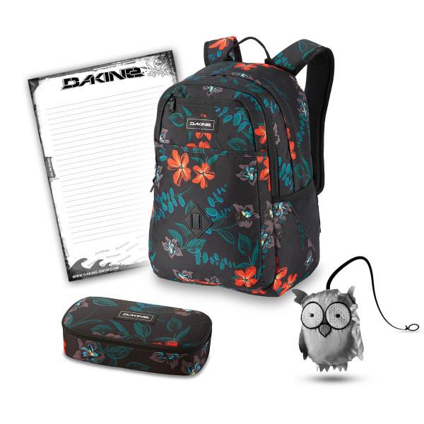 Dakine Essentials Pack 26L + School Case + Emma + Block Schulset Twilight Floral