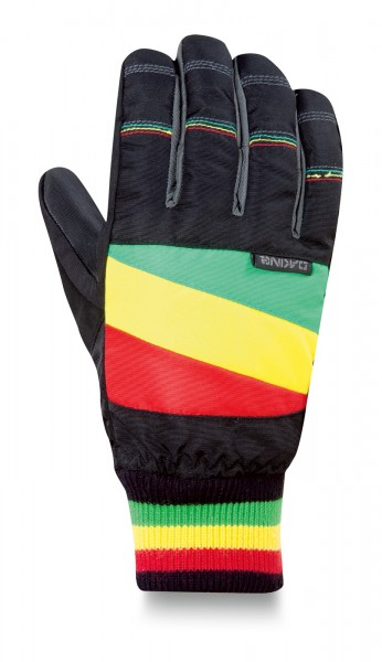Dakine Brougham Glove Black Rasta Größe L