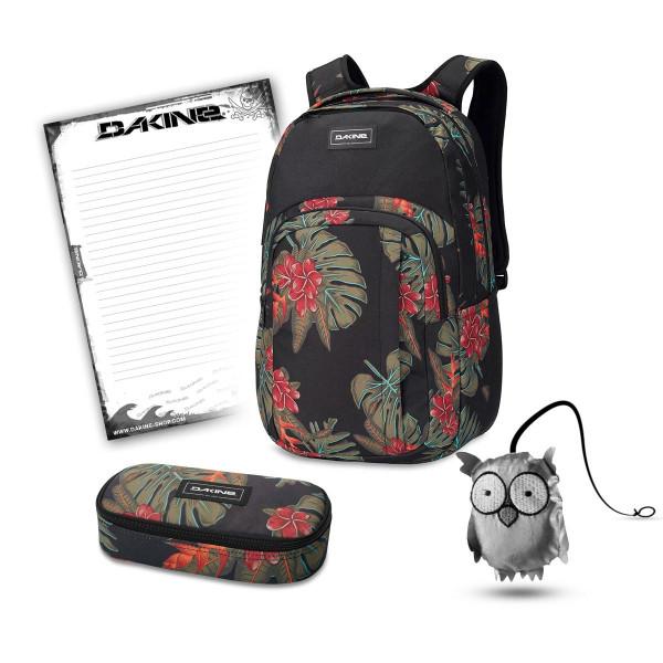 Dakine Campus L 33L + School Case + Emma + Block Schulset Jungle Palm