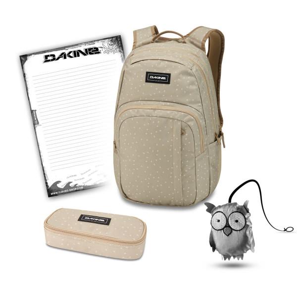 Dakine Campus M 25L + School Case + Emma + Block Schulset Mini Dash Barley