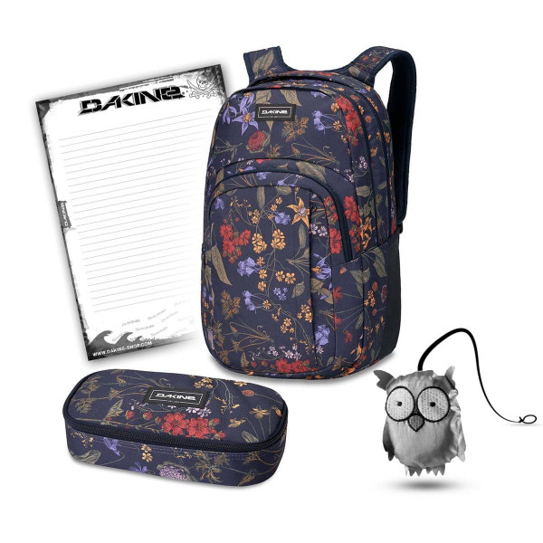 Dakine Campus L 33L + School Case XL + Emma + Block Schulset Botanics PET