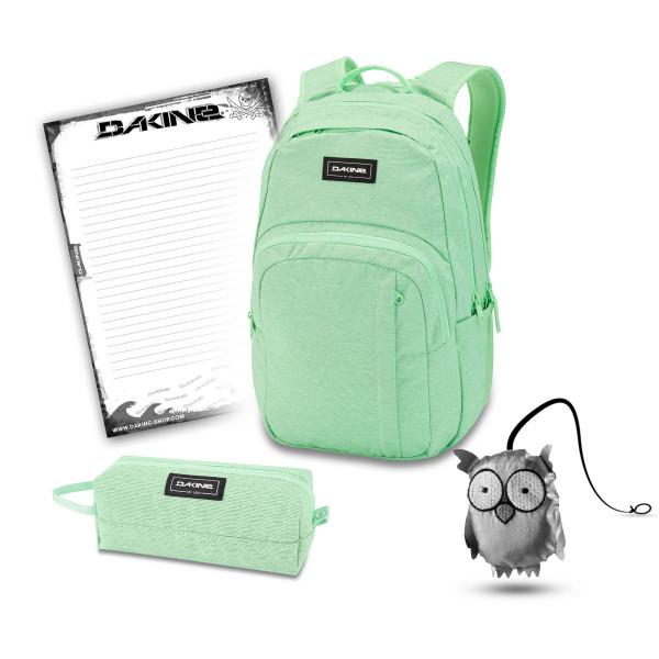 Dakine Campus M 25L + Accessory Case + Emma + Block Schulset Dusty Mint