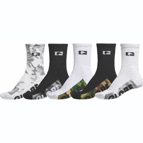 GLOBE Malcom Crew Sock 5 Pack Socks Assorted Größe: One Size