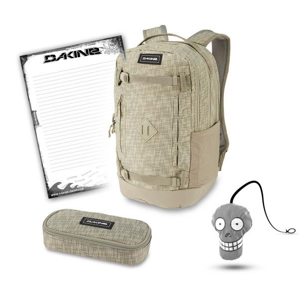 Dakine URBN Mission Pack 23L + School Case + Harry + Block Schulset Gravity Grey