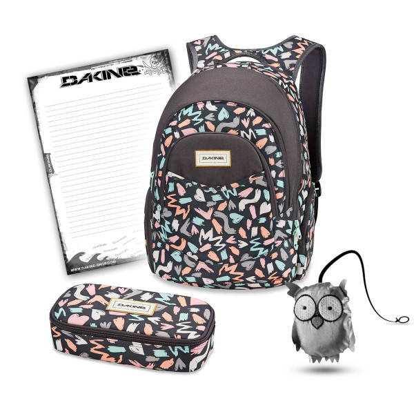 Dakine Prom 25L + School Case XL + Emma + Block Schulset Beverly