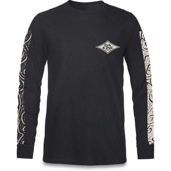 Dakine Lava Tubes L/S T Shirt Herren Washed Black