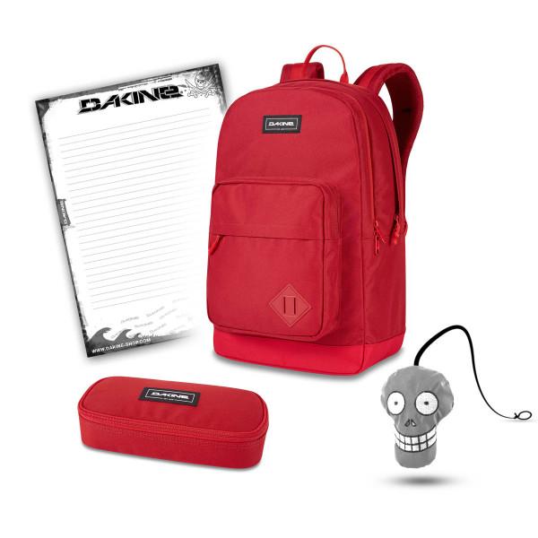 Dakine 365 Pack DLX 27L + School Case + Harry + Block Schulset Deep Crimson
