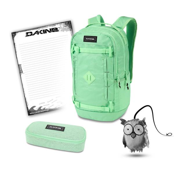 Dakine URBN Mission Pack 23L + School Case + Emma + Block Schulset Dusty Mint Ripstop