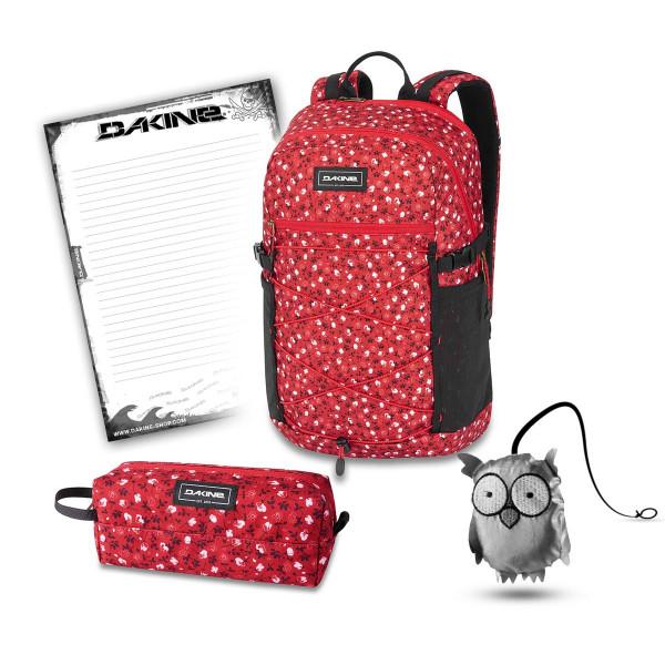 Dakine WNDR Pack 25L + Accessory Case + Emma + Block Schulset Crimson Rose