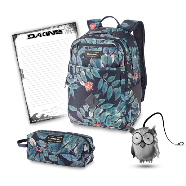 Dakine Essentials Pack 26L + Accessory Case + Emma + Block Schulset Eucalyptus Floral
