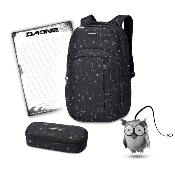 Dakine Campus L 33L + School Case + Emma + Block Schulset Slash Dot