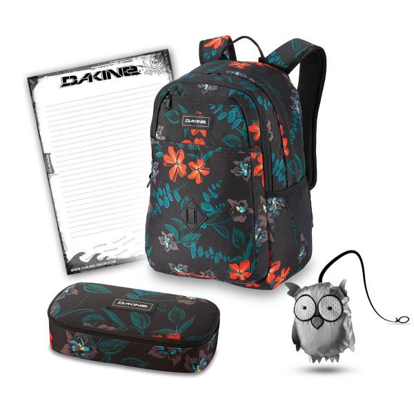 Dakine Essentials Pack 26L + School Case XL + Emma + Block Schulset Twilight Floral
