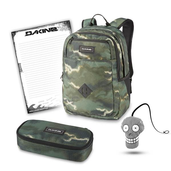 Dakine Essentials Pack 26L + School Case XL + Harry + Block Schulset Olive Ashcroft Camo