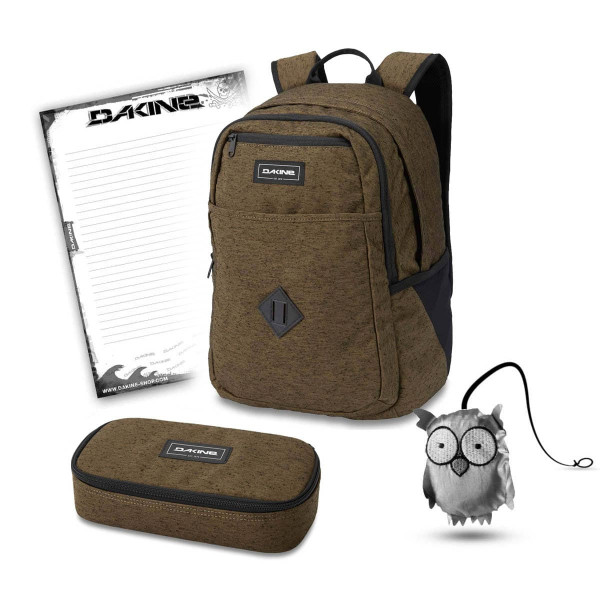 Dakine Essentials Pack 26L + School Case XL + Emma + Block Schulset Dark Olive
