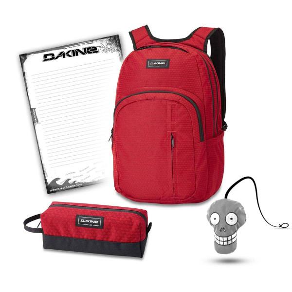 Dakine Campus Premium 28L + Accessory Case + Harry + Block Schulset Crimson Red