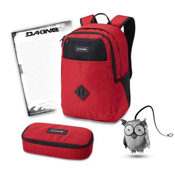 Dakine Essentials Pack 26L + School Case XL + Emma + Block Schulset Crimson Red