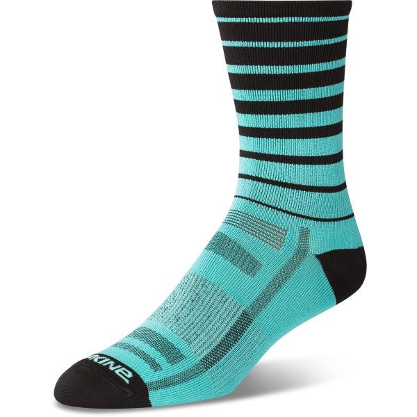 Dakine Singletrack Sock Socken Electric Mint Stripe