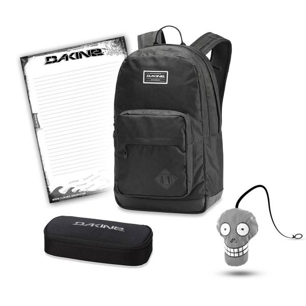 Dakine 365 Pack DLX 27L + School Case + Harry Block Schulset Black
