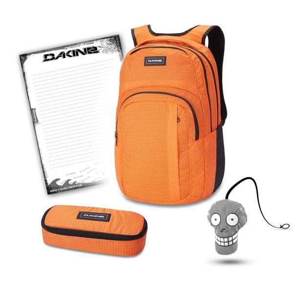 Dakine Campus L 33L + School Case + Harry + Block Schulset Orange