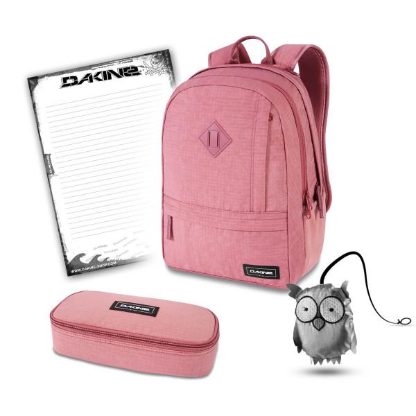 Dakine Essentials Pack 22L + School Case XL + Emma + Block Schulset Faded Grape