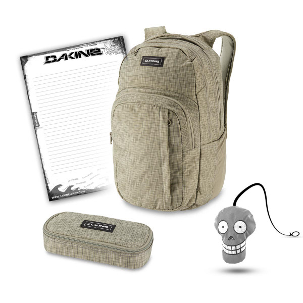 Dakine Campus L 33L + School Case + Harry + Block Schulset Gravity Grey