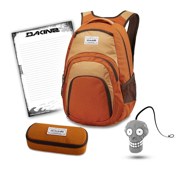 Dakine Campus 33L + School Case + Harry + Block Schulset Copper