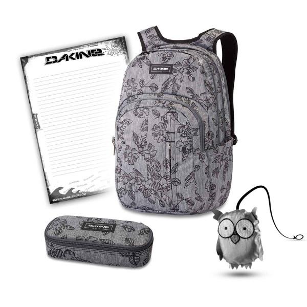 Dakine Campus Premium 28L + School Case XL + Emma + Block Schulset Azalea