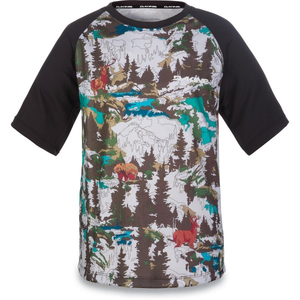 Dakine Kids Dropout S/S Jersey Kinder Bike Jersey Color by Numbers