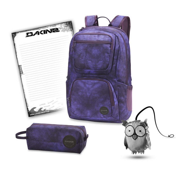 Dakine Jewel 26L + Accessory Case + Emma + Block Schulset Purple Haze