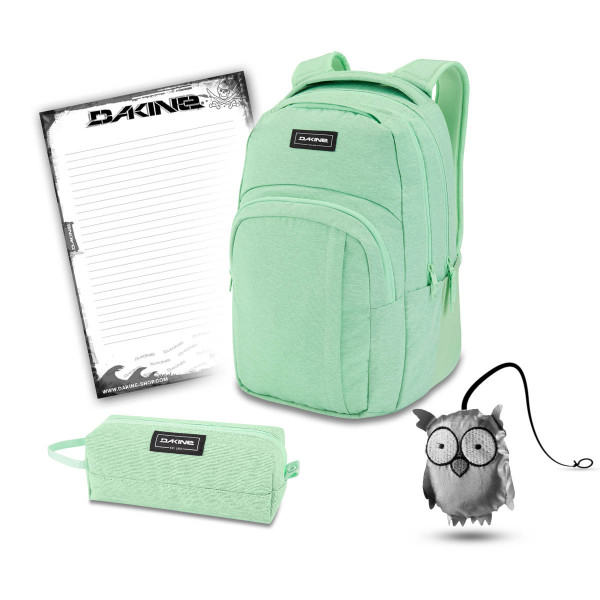 Dakine Campus L 33L + Accessory Case + Emma + Block Schulset Dusty Mint