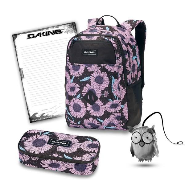 Dakine Evelyn 26L + School Case XL + Emma + Block Schulset Nightflower