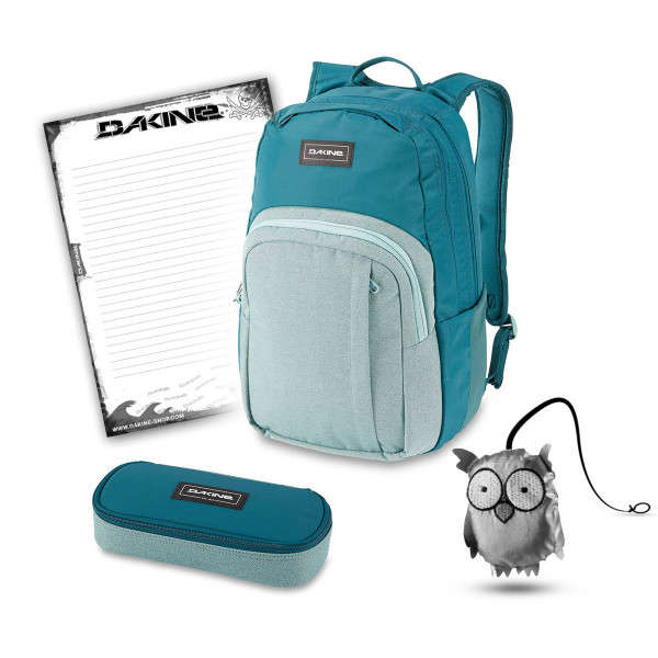 Dakine Campus M 25L + School Case + Emma + Block Schulset Digital Teal