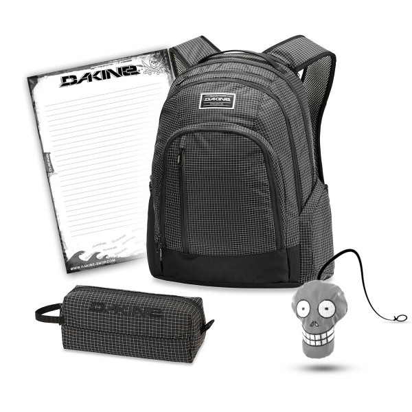 Dakine 101 29L + Accessory Case + Harry + Block Schulset Rincon