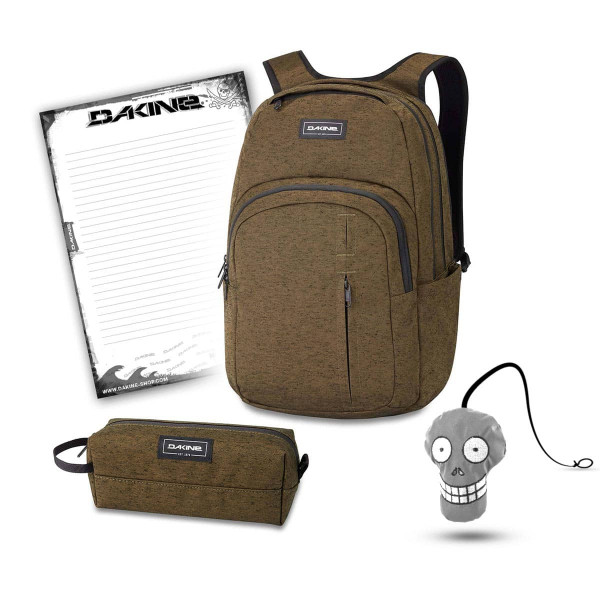Dakine Campus Premium 28L + Accessory Case + Harry + Block Schulset Dark Olive
