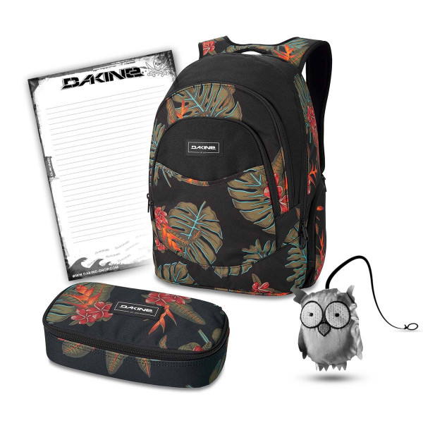 Dakine Prom 25L + School Case XL + Emma + Block Schulset Jungle Palm
