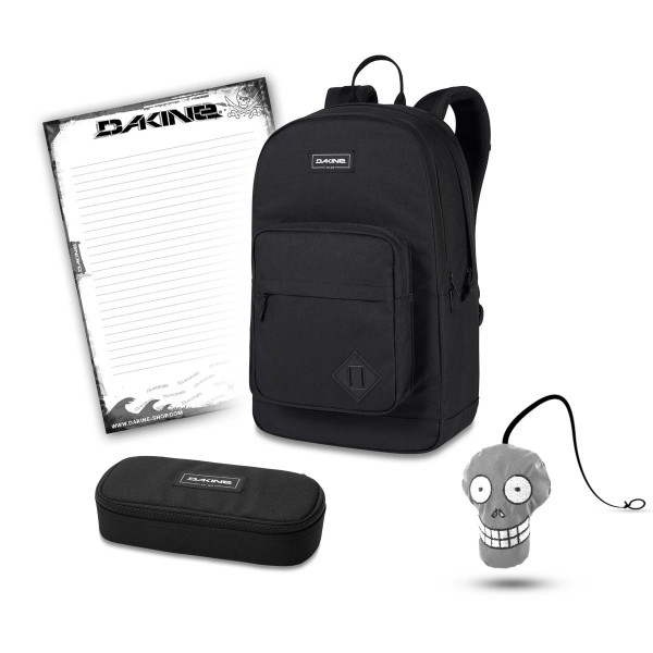Dakine 365 Pack DLX 27L + School Case + Harry + Block Schulset Black