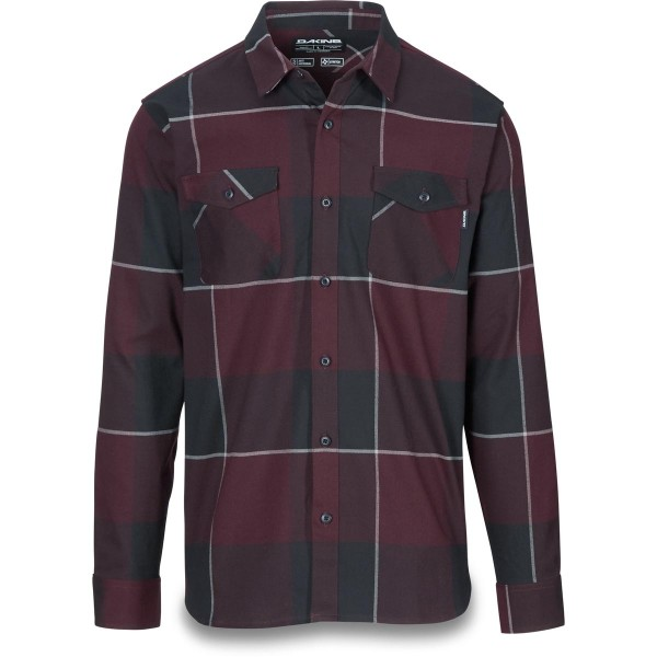 Dakine Underwood Flannel Herren Funktionshemd Plum Shadow / Asphalt