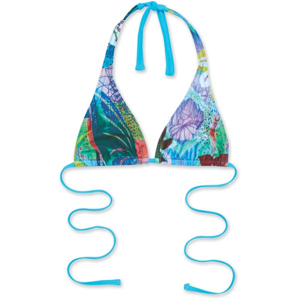 Dakine Kai Halter Bikini Top Shambhala Aqua