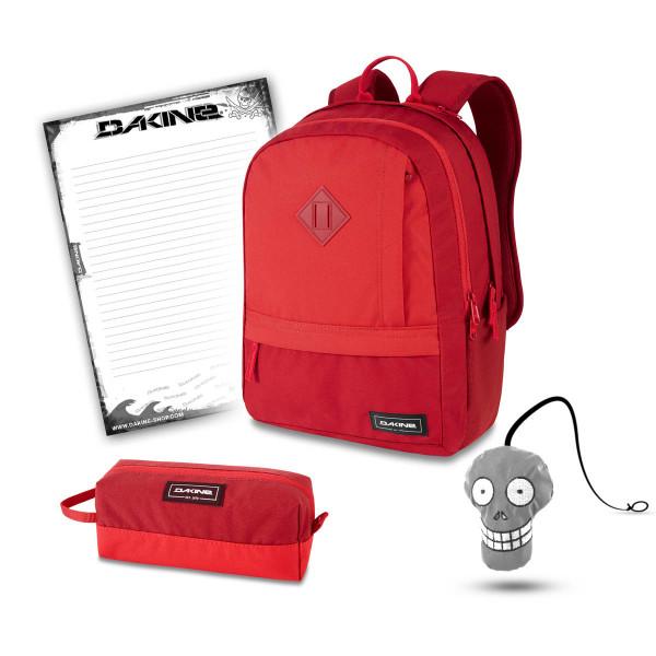 Dakine Essentials Pack 22L + Accessory Case + Harry + Block Schulset Deep Crimson