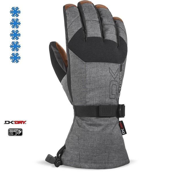 Dakine Leather Scout Glove Herren Ski- / Snowboard Handschuhe mit Innenhandschuh Carbon