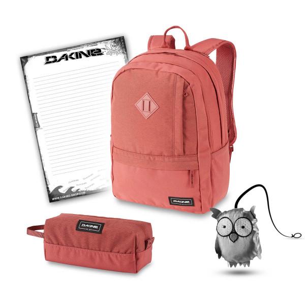 Dakine Essentials Pack 22L + Accessory Case + Emma + Block Schulset Dark Rose