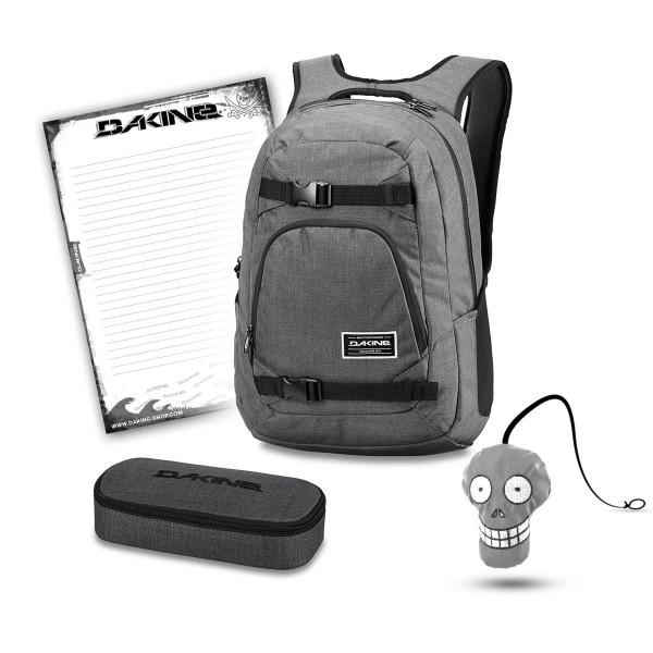 Dakine Explorer 26L + School Case + Harry + Block Schulset Carbon