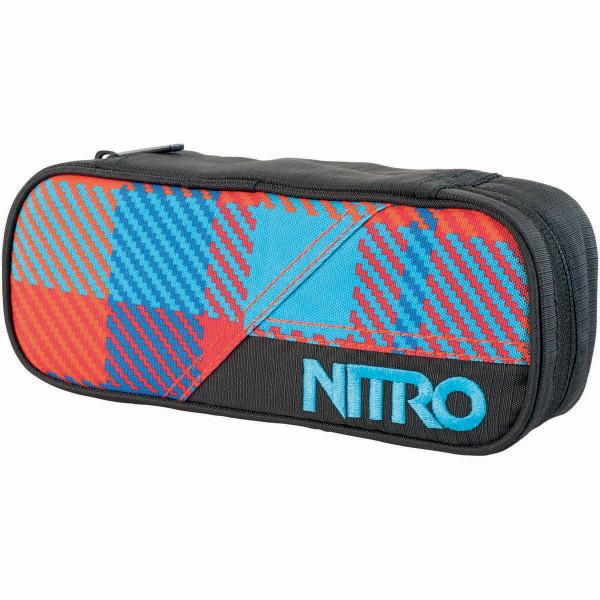 Nitro Pencil Case Federmäppchen Plaid Red Blue